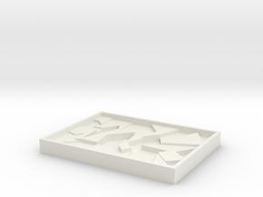 Puzzle in White Natural Versatile Plastic
