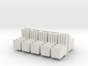 Factory with four pipes in White Natural Versatile Plastic