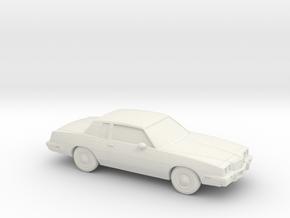 1/87 1985 Pontiac Grand Prix in White Natural Versatile Plastic