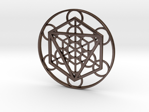 Metatron Cube - Octahedron in Polished Bronze Steel