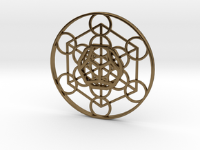 Metatron Cube - Dodecahedron in Polished Bronze