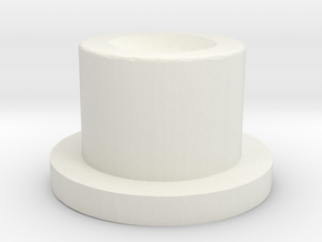 Serpent Squonk Button in White Natural Versatile Plastic