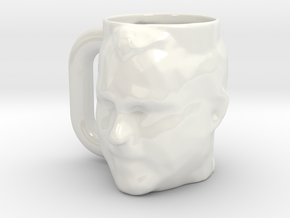 Action Jim Mug in Gloss White Porcelain