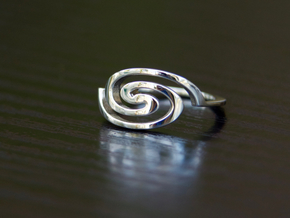 Spiral Ring, Size 4.5 in Polished Silver