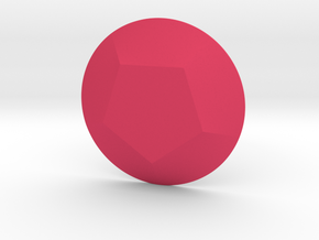 Pentagon Gem in Pink Processed Versatile Plastic
