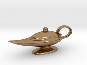 Oil Lamp Pendant in Natural Brass