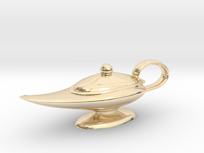 Oil Lamp Pendant in 14K Yellow Gold