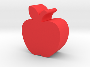 Apple Game Piece in Red Processed Versatile Plastic