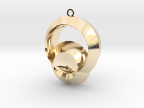 Protection of shell in 14K Yellow Gold