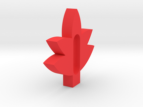 Maple Leaf soap holder.stl in Red Processed Versatile Plastic