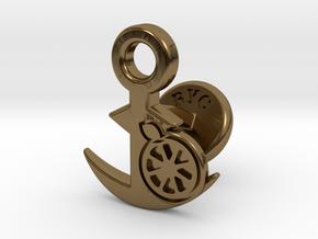 Cufflinks - Kan Kan Mikan! in Polished Bronze
