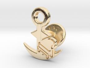 Cufflinks - Sound of the Ocean in 14k Gold Plated Brass