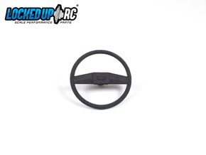1:10 RC Truck Steering wheel 6 in Black Natural Versatile Plastic