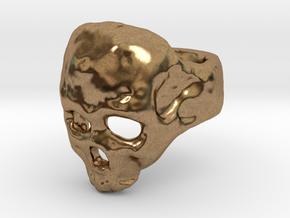 Skull Ring in Natural Brass