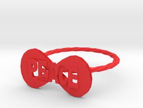 peace ring in Red Processed Versatile Plastic: 7 / 54