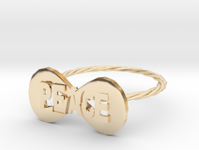 peace ring in 14K Yellow Gold: 6 / 51.5