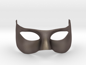 Prometheus Mask in Polished Bronzed Silver Steel