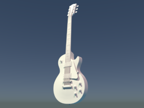 Gibson Les Paul, Scale 1:6 in White Strong & Flexible Polished