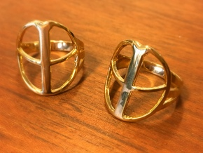 XP Deus Ring ringsize 20mm in 18k Gold Plated Brass
