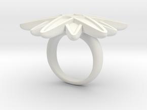Starburst Statement Ring in White Natural Versatile Plastic: 6 / 51.5