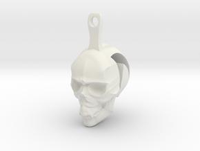 Skull Earrings Halloween in White Strong & Flexible