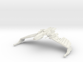 "Klingon N''Thak Class  1.6"" wing to wing tip in White Natural Versatile Plastic"