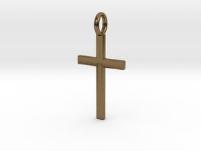 Crucifix - Pendant in Natural Bronze: Small