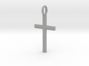 Crucifix - Pendant in Aluminum: Small