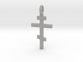 Orthodox Crucifix - Pendant in Aluminum: Small