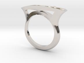 Bent Tapered Bar Ring - Silver, Gold, or Platinum in Platinum: 5 / 49