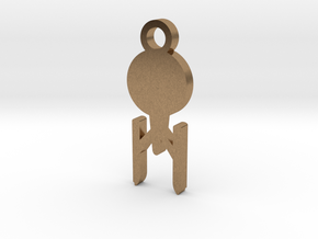 Enterprise Silhouette Charm in Natural Brass