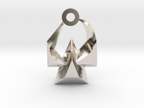 House of Martok Charm in Rhodium Plated Brass: Small