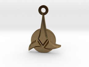 Klingon Empire Charm in Natural Bronze: Small