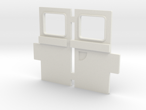 VW T1 Samba Door in White Natural Versatile Plastic