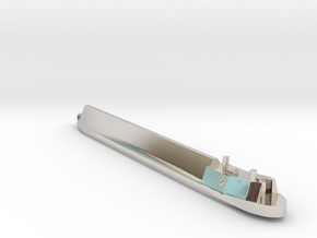 Ricky Boat in Rhodium Plated Brass