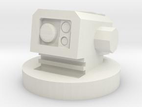 MK1 Shrike turret center controller module in White Natural Versatile Plastic