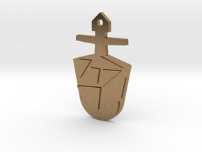The Eighth Doctor's TARDIS Key in Natural Brass: Medium