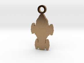 Raza Silhouette Charm in Natural Brass