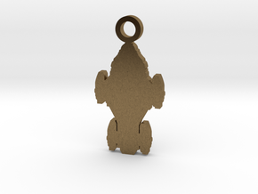 Raza Silhouette Charm in Natural Bronze