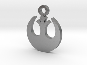 Rebel Forces Charm in Natural Silver