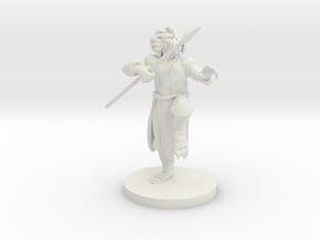 Gold Dragonborn male Monk in White Natural Versatile Plastic