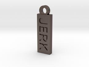 Jerk Bitch Reversible Charm in Polished Bronzed Silver Steel