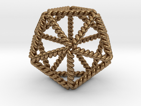Twisted Icosahedron LH in Natural Brass