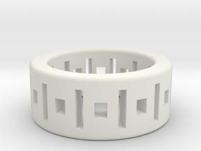 Geometry ring in White Natural Versatile Plastic