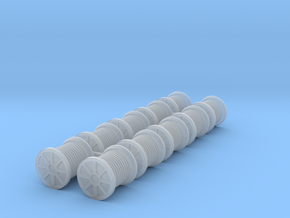 N Scale 10x Cable Reel S in Smooth Fine Detail Plastic