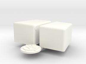 1/8 Jaz 3gal 12 7p5 10 Econo Rail in White Processed Versatile Plastic