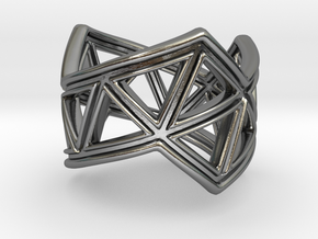 Phylloframe Ring 2 in Polished Silver: 6 / 51.5