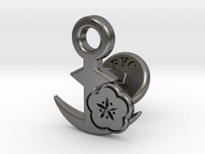 Cufflinks - BUU! BUU! Desu wa! in Polished Nickel Steel