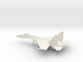 Sukhoi Su-27 Flanker in White Natural Versatile Plastic: 1:100