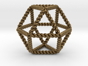 Twisted Cuboctahedron RH in Natural Bronze